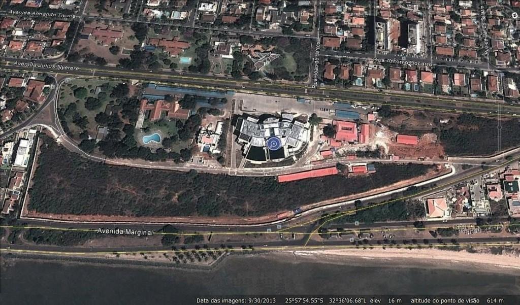 A luxuosa nova ala do Complexo presidencial moçambicano. Ninguém sabe quanto custou